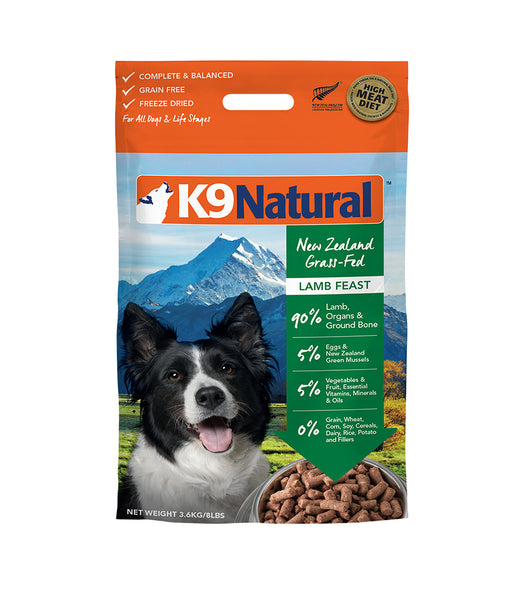 K9 Natural® Freeze-Dried Lamb Feast Dog Food (3.6kg)