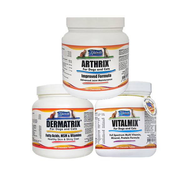 [30% OFF] Kala Health® Vitalmix, Dermatrix & Arthrix Bundle (180cts)