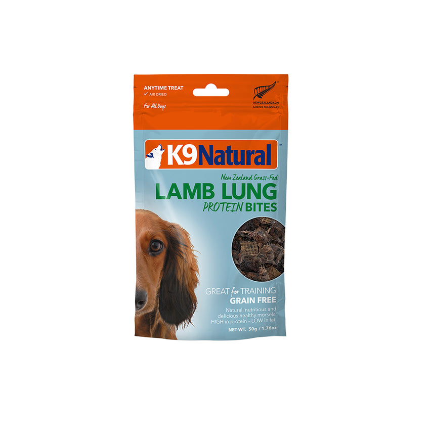 [20% OFF] K9 Natural Lamb Lung Protein Bites (50g)