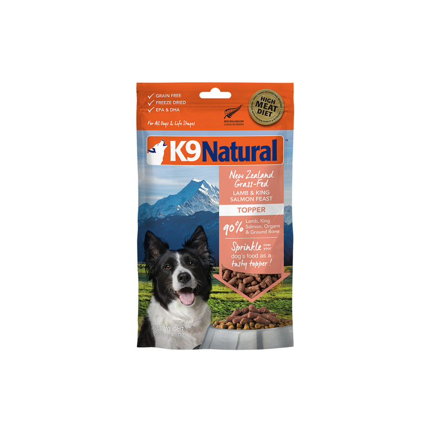 [20% OFF] K9 Natural Freeze Dried Lamb & King Salmon Feast Topper (100g)