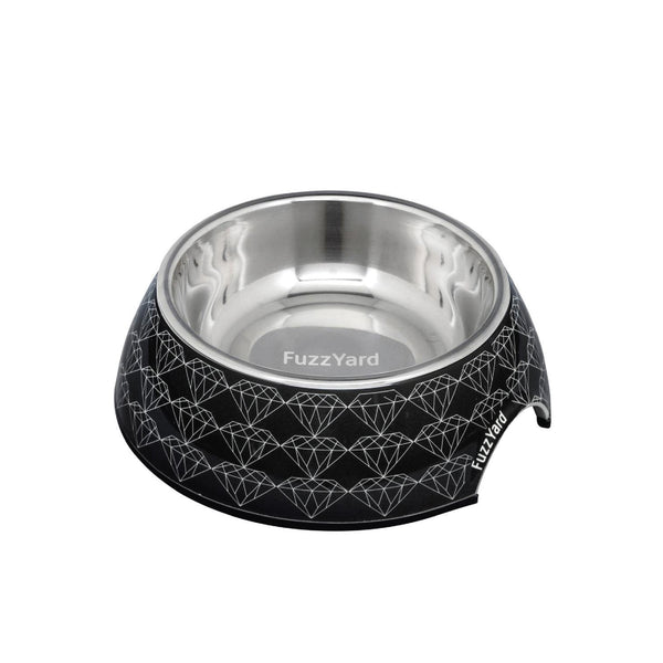 FuzzYard Easy Feeder Dog Bowl (Black Diamond)