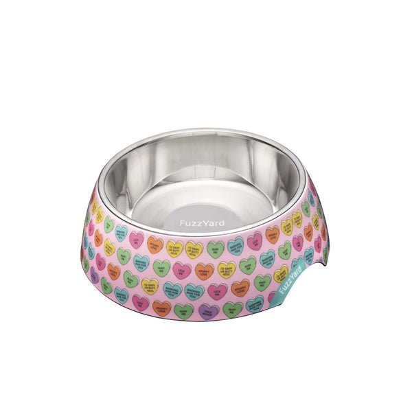 FuzzYard Easy Feeder Pet Bowl (Candy Hearts)