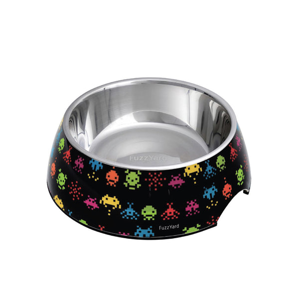 FuzzYard Easy Feeder Dog Bowl (Space Raiders)