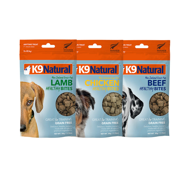 [30% OFF] K9 Natural Freeze Dried Healthy Bites Value Bundle (3 x 50g)