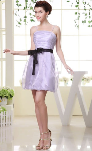 2021 Sleeveless Lilac Ruching Spaghetti Strap Bridesmaid Dresses