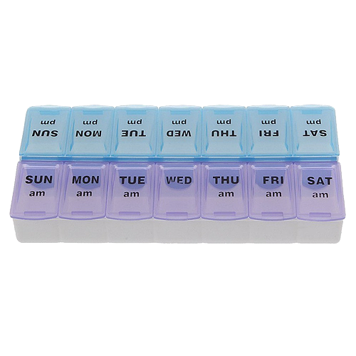 7-Day AM PM Pill Box Organizer