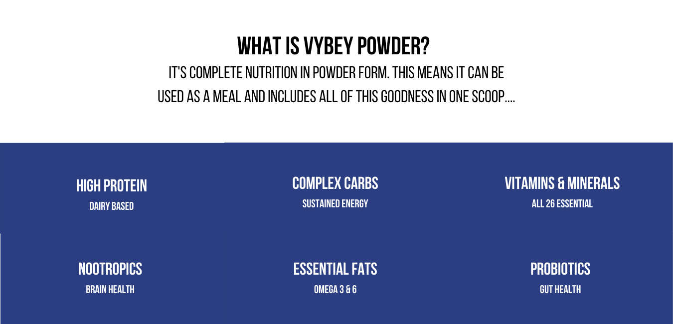 vybey Complete Meal Powder | Vanilla Flavoured