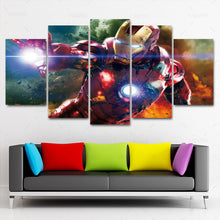 Load image into Gallery viewer, Marvel Legend Iron Man five Panel Canvas Art - Home Decor