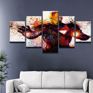 Iron Man Panel Canvas Art