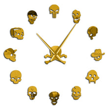 Load image into Gallery viewer, Skull Heads Frameless Wall Clock