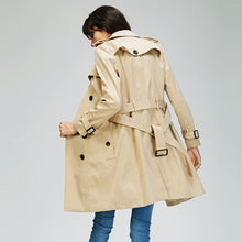 Load image into Gallery viewer, Double-Breasted Water Resistant Classic Trench Coat