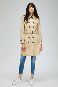 Double-Breasted Water Resistant Classic Trench Coat