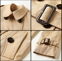 Load image into Gallery viewer, Double Breasted Short Trench Coat