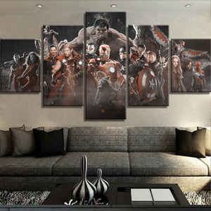 Marvel Legends Five Panel Canvas Wall Art - Home Decor