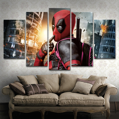 Marvel Super Hero Deadpool Canvas Art - Home Decor