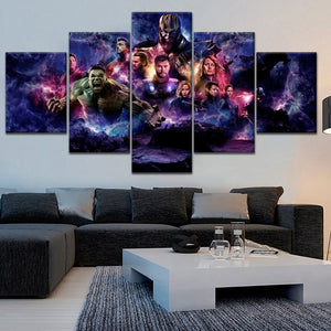 Avengers 4 Endgame Five panel Canvas Art - Wall Decor