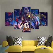 Load image into Gallery viewer, Avengers Five Panel Canvas Art - Room Decor