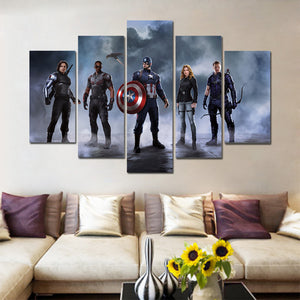 Marval Super Heroes five Panel Canvas Art - Home Decor