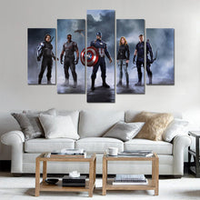 Load image into Gallery viewer, Marval Super Heroes five Panel Canvas Art - Home Decor