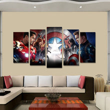 Load image into Gallery viewer, Avengers five Panel Canvas Wall art - Home Decor