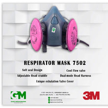 Load image into Gallery viewer, 3M Half Respirator 7502