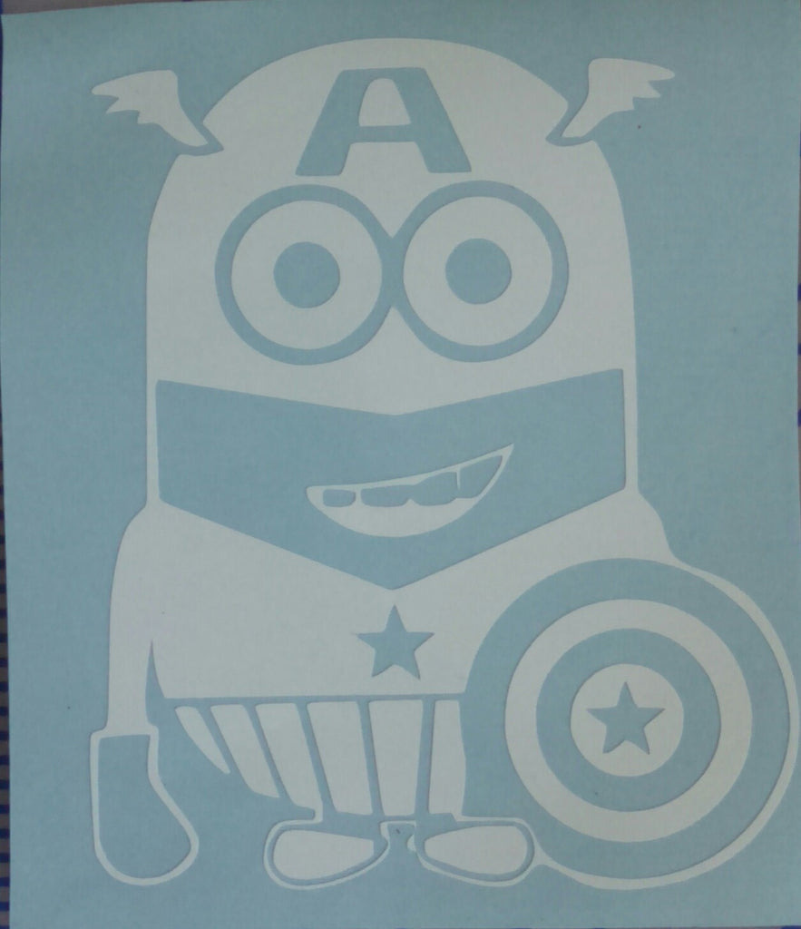 Despicable Me Captain America decal