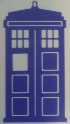 "Dr Who Police Box Tardis Vinyl Decal Car Window Laptop 4"" tall"