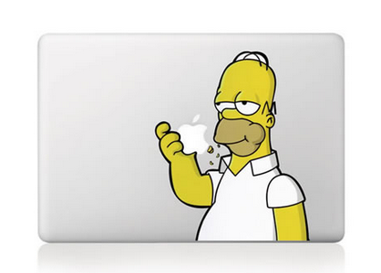 "Homer Simpson 13"" Macbook Decal"