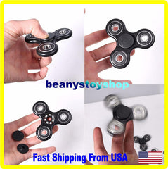Tri-Spinner Fidget Toy Ceramic EDC Hand Finger Spinner Desk Focus torq
