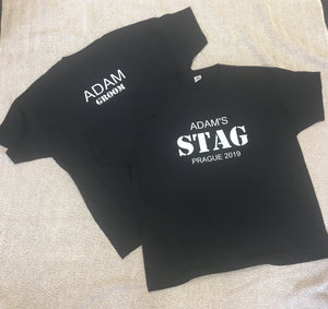 Black Stag Do T-Shirt