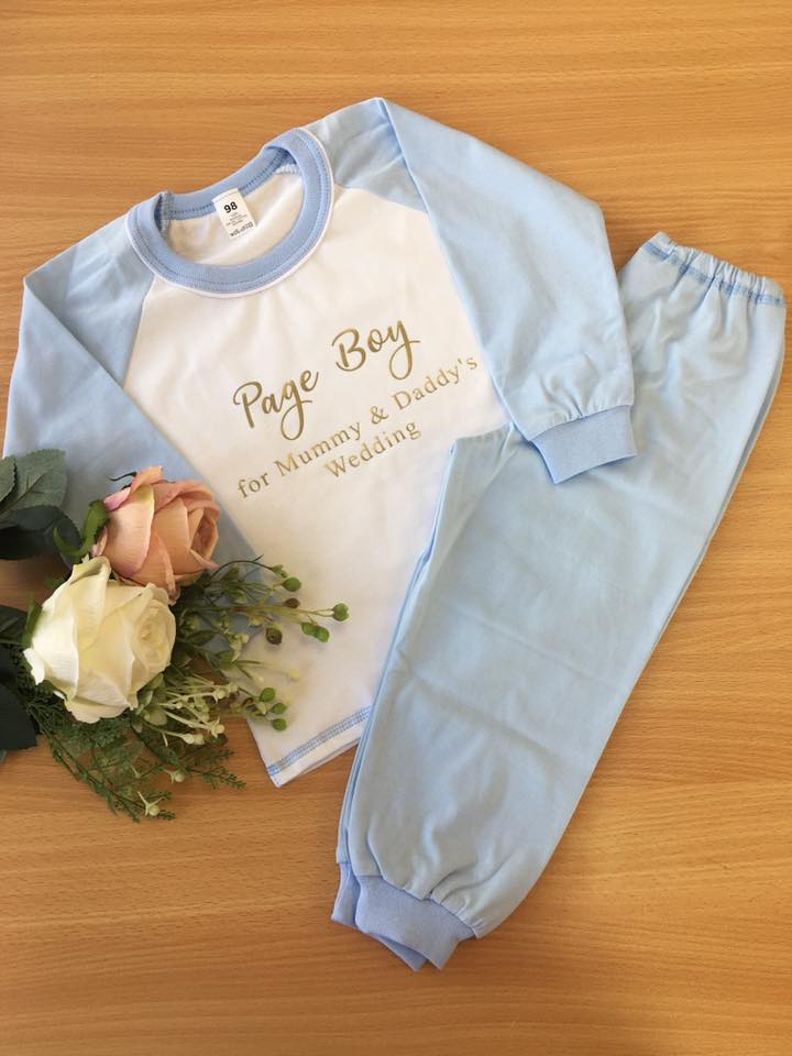 Child Light Blue Long Cotton Pjs