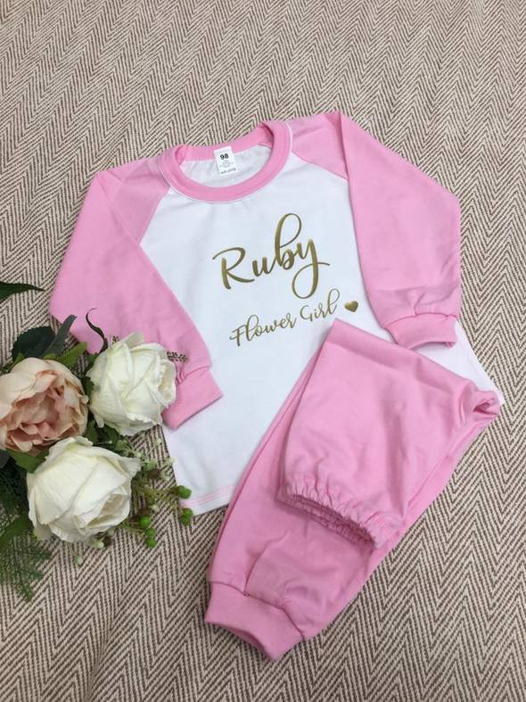Child Pink Long Cotton Pjs
