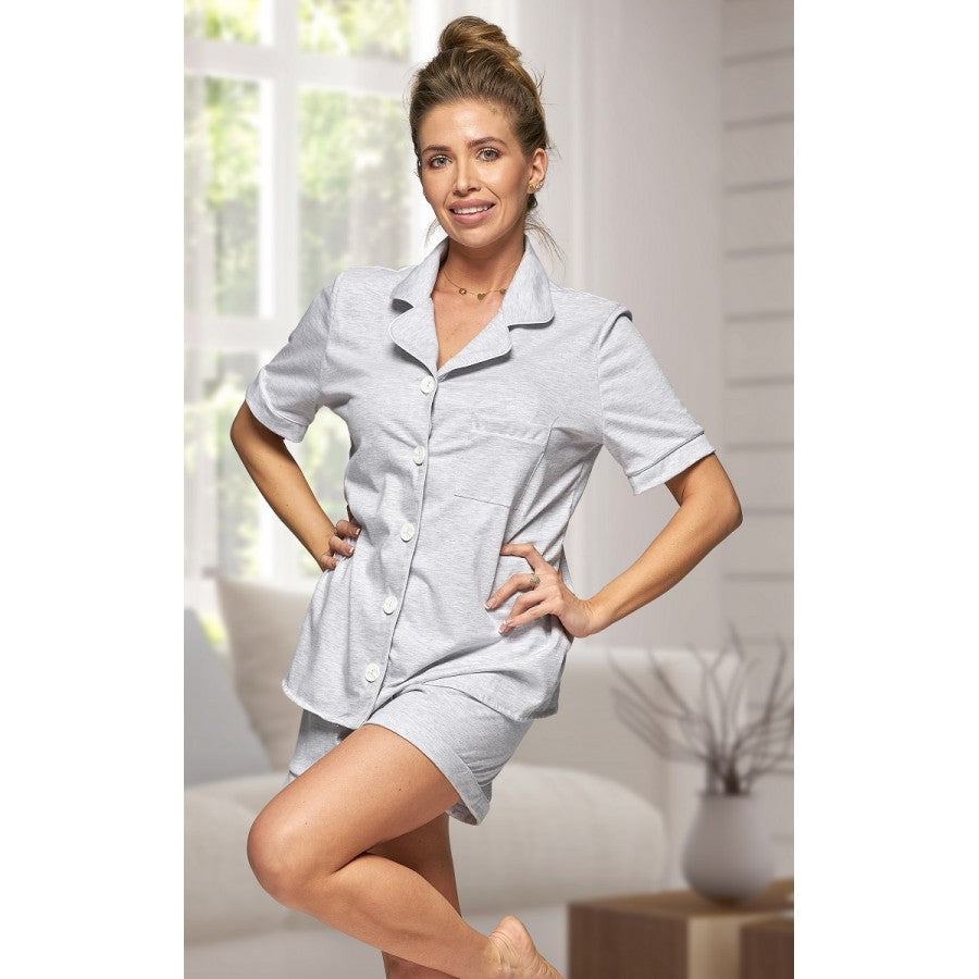 Adult Grey Cotton Short Pjs