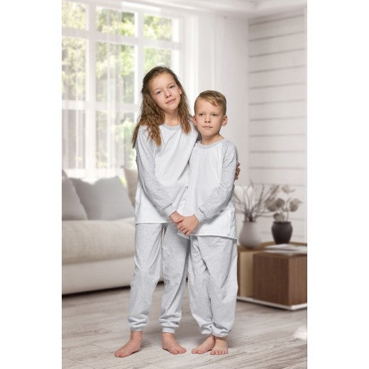 Child Grey Long Cotton Pjs