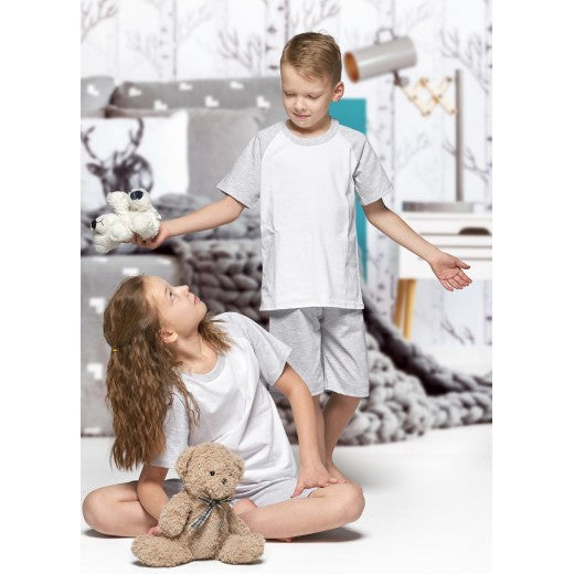 Child Grey Short Cotton Pjs