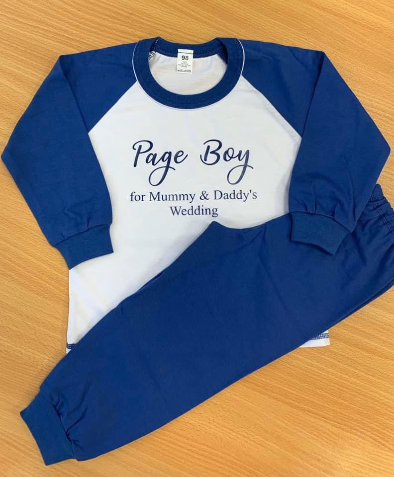 Child Navy Long Cotton Pjs