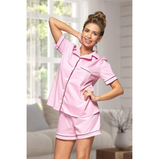 Adult Pink Cotton Short Pjs