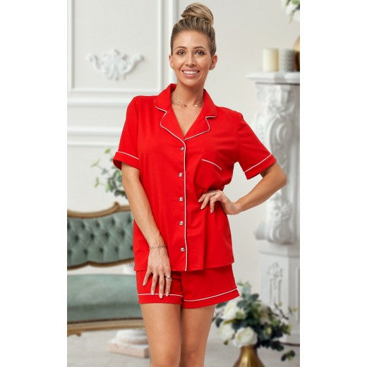 Adult Red Cotton Short Pjs