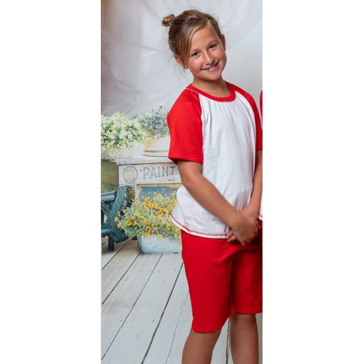 Child Red Short Cotton Pjs