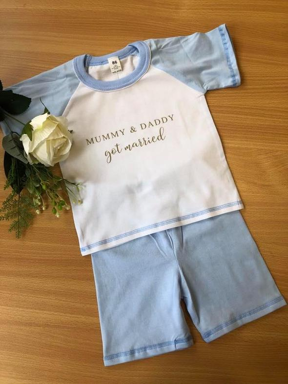 Child Light Blue Short Cotton Pjs