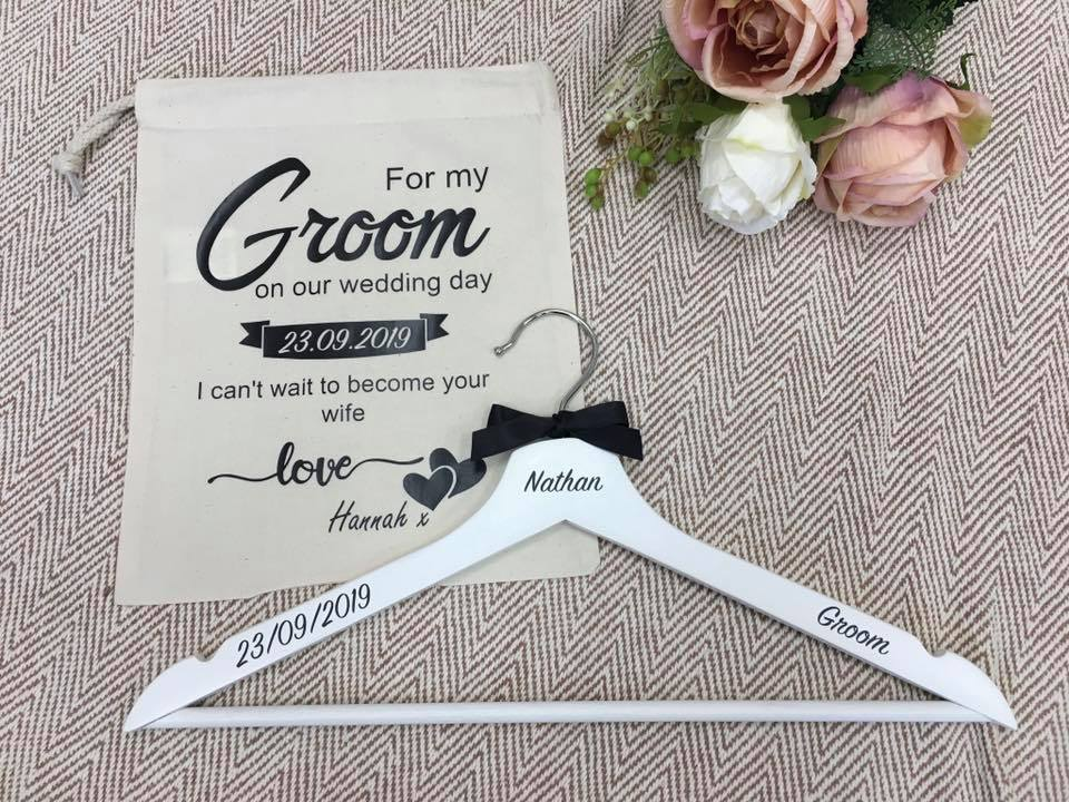 Groom Canvas Bag and Hanger