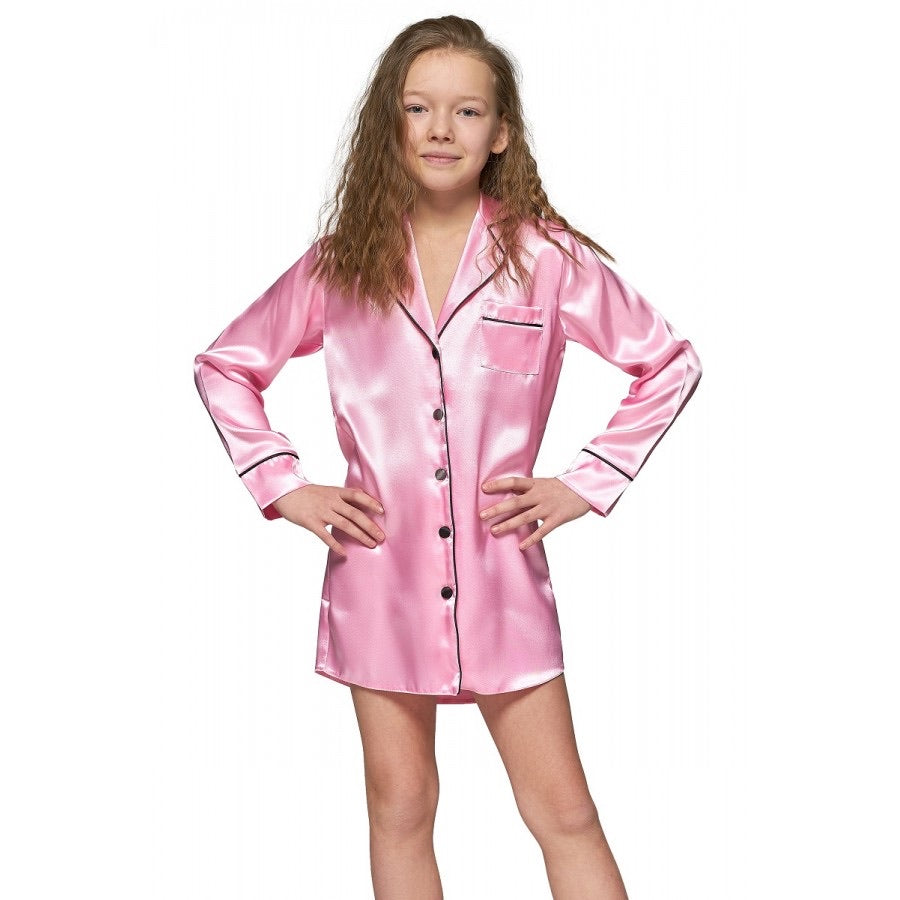 Child Pink Satin Shirt