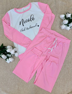 Adult Pink Cotton Long Pyjamas