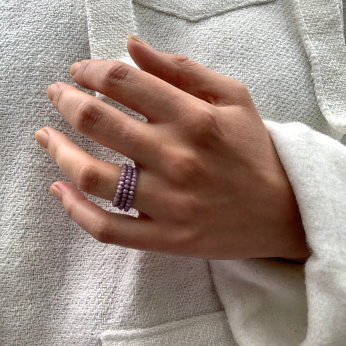 Crystal Beaded Rings