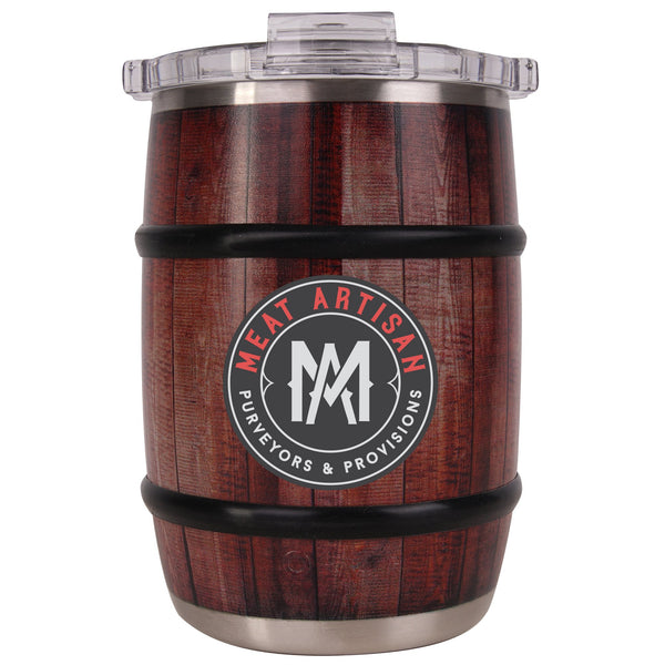 Meat Artisan Oak Wood Grain Barrel 12oz