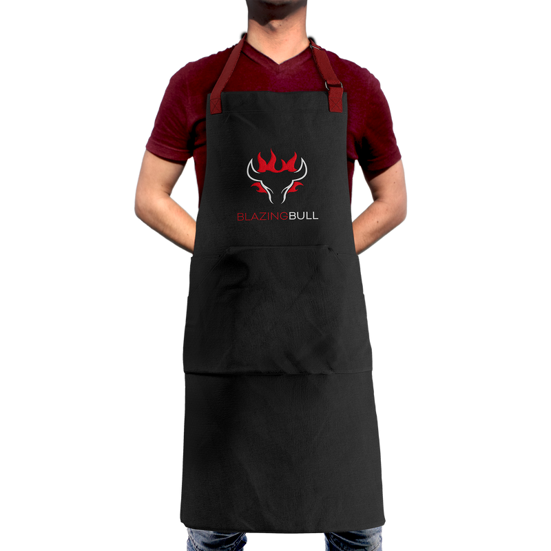 Blazing Bull Apron - Front Person View