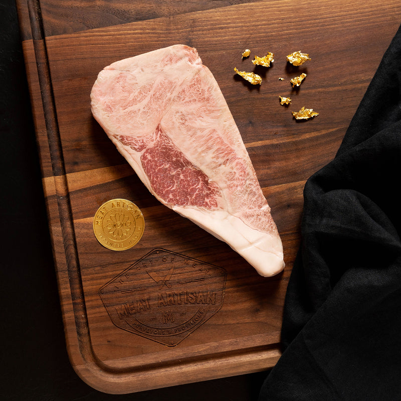 BMS 12 Japanese Wagyu KOBE Beef A5 NY Strip End Steak