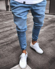 Solid Color Skinny Jean Pants