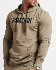 Letter Printing Long Sleeve Hooded Sporty Sweatshirt