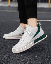 Color Block Lace-up Round Toe Casual Sneakers